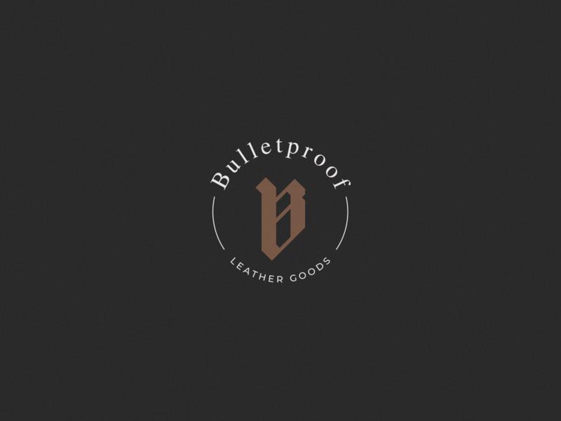Bulletproof Leather Goods - Logo goldenratio badge logo logotype logotipo symbol marca brand design vector logo