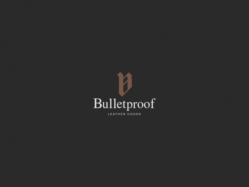 Bulletproof Leather Goods - Logo goldenratio logotype logotipo symbol marca brand design vector logo