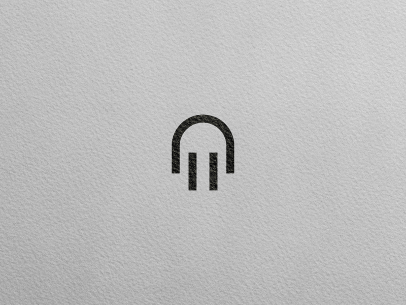 M + Electric plug - Logo Concept illustration goldenratio golden ratio logotype logotipo symbol brand design vector logo
