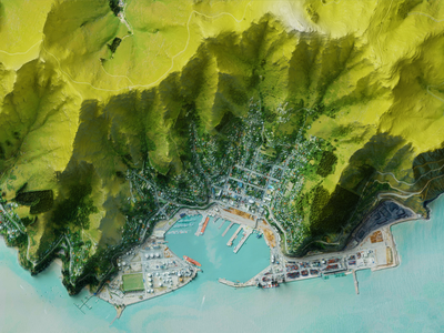 Lyttleton Harbour, NZ 3d