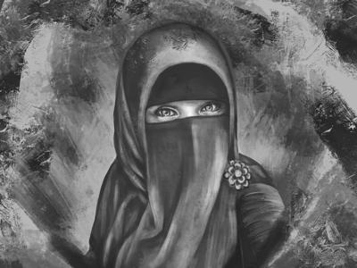 girle with niqab