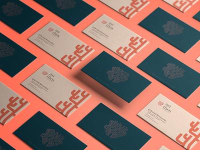 Anthos Branding symbol logodesign biomimetic emotional branding business card logotipo identidade visual branding brand naming design thinking visual identity logo