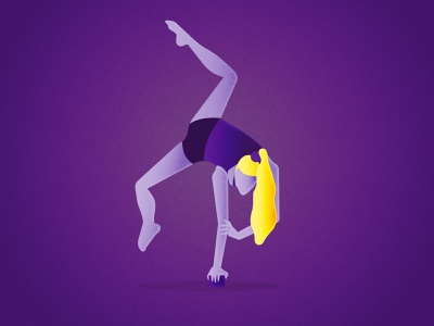Contortionist character contortionist circus vector illustration design