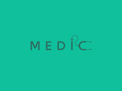 Medic | Logo doctor nursing medical typography branding vector illustration design color logo