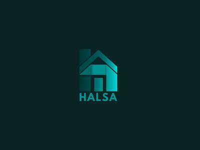 Halsa | Logo app icon branding typography logo vector illustration color design