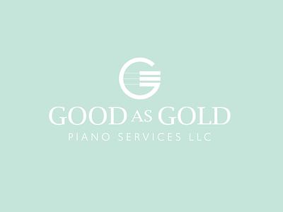 Piano Technician Logo vector typography icon branding logo ui illustration color design
