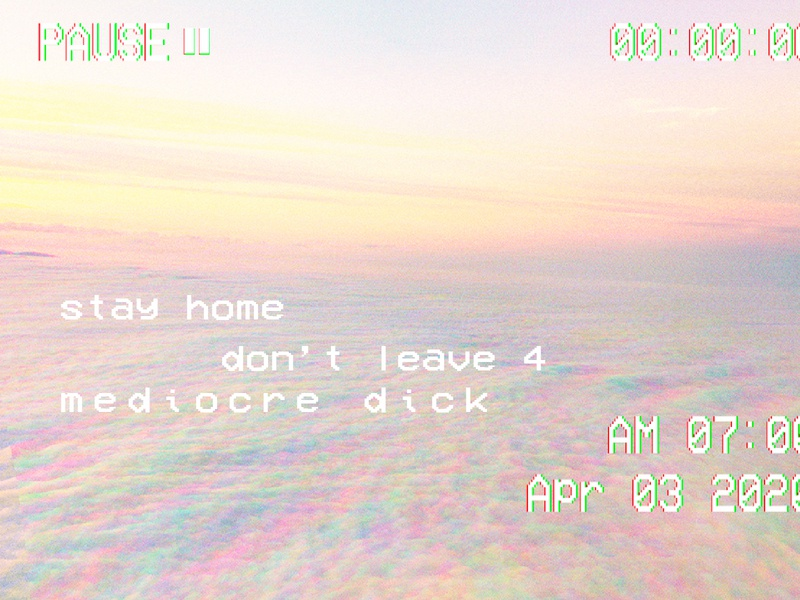 stay home dick aesthetic vhs stay home covid19