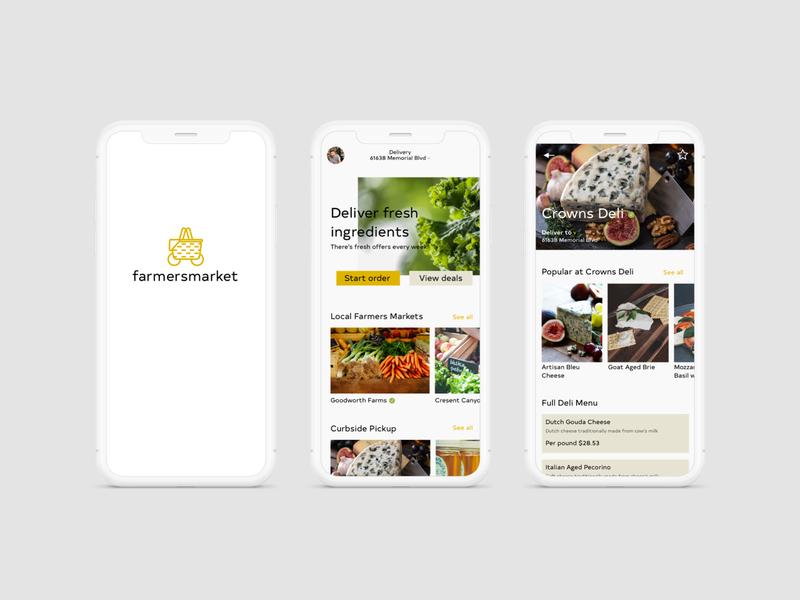 farmersmarket app concept dailyui iphonex farmers market ui design ux design uxui uiux product design appdesign app sketch ui ux