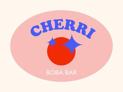 cherri boba bar concept branding identity logo design boba branding logo