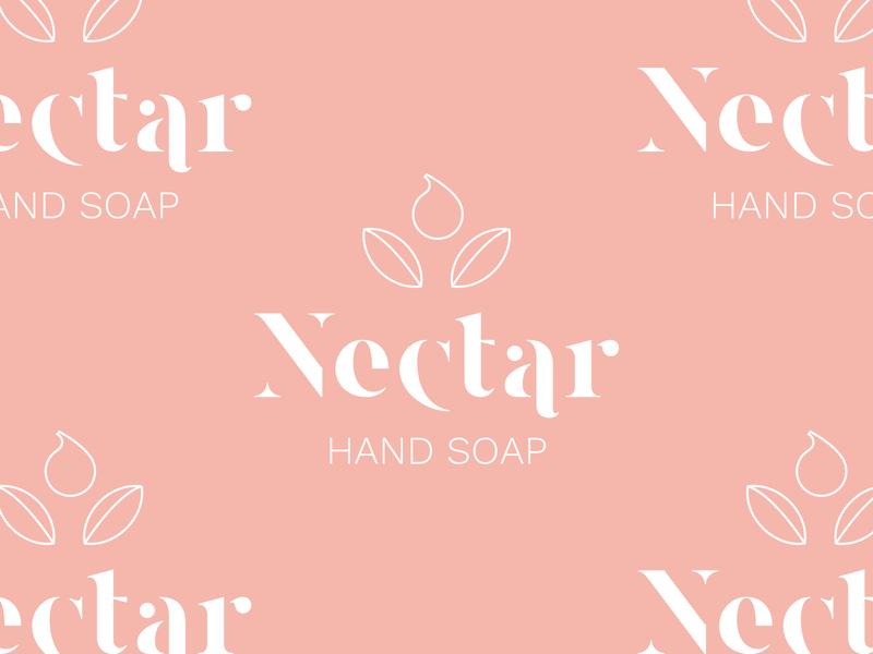 nectar branding concept brand identity hand soap icon aesthetic logo design branding pink typography