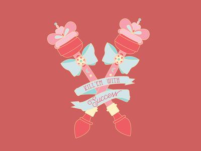 Kill 'em with Success sailor moon sailormoon magical girl illustration vector feminism typography