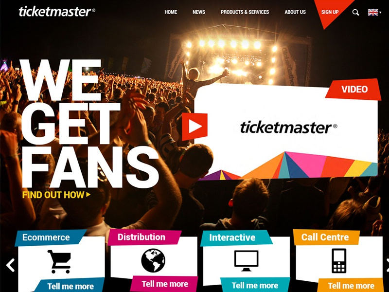 Ticketmaster Header by Russ Clow | Dribbble | Dribbble
