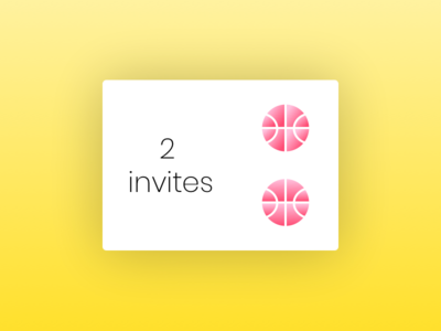 Two Invites Available welcome newbies invites available dribbble draft invite