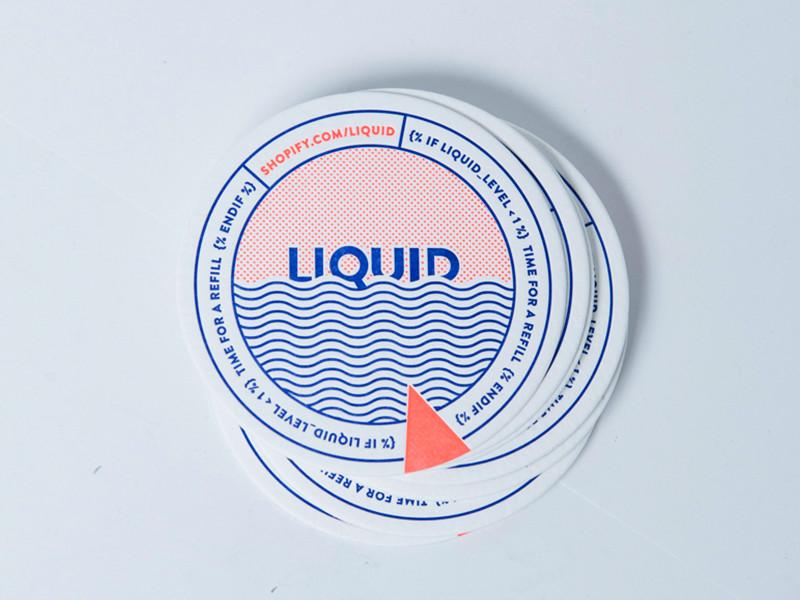 Liquid coaster print nautical circle code shopify neon coaster letterpress