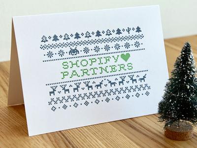 Letterpress holiday greeting christmas holidays card print unicorns cross-stitch letterpress