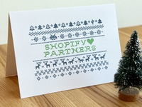 Letterpress holiday greeting