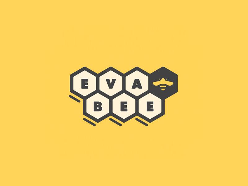 Personal chef logo yellow honeycomb pentagon bees logo