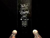 Résumé Engraved on Skateboard