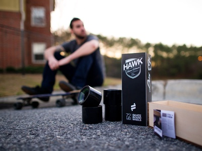 Hawk Skateboard Wheels Packaging ar booket handcrafted wood wheels layout typography type black packaging skateboarding skate