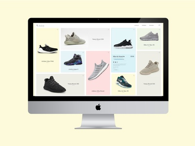 Solely Home Screen responsive color shop product photography sneakers shoes imac ui website ios app
