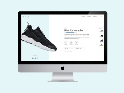 Detail Product Page responsive color shop product photography sneakers shoes imac ui website ios app