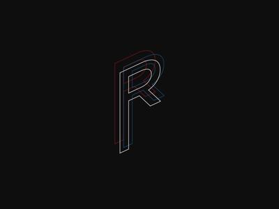 R Mark black lettering mark brand typography type logo