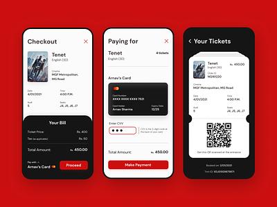 Checkout UI for Movie Booking app ui app design uidesign design ui ticket payment checkout booking movie app