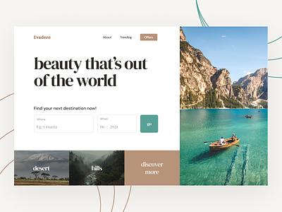 Travel Landing Page Concept travel site web ui web design website design travel agency tourism travel design uidesign ui