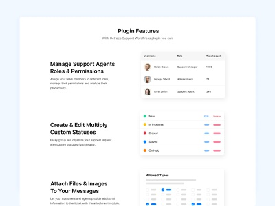 Octrace Support - Landing Page wordpress plugin illustration landing features