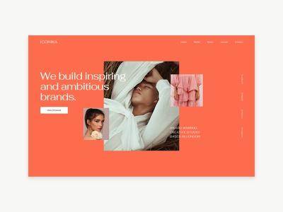Iconika - Creative Agency Portfolio Template typography exploration composition layout hero webdesign portfolio