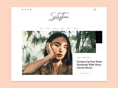 Selestine - Free Blog & Magazine Template
