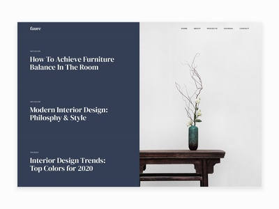 Faure – Interior & Architecture Agency HTML Template