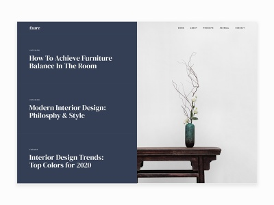 Faure – Interior & Architecture Agency HTML Template template webdesign html5 interior design blog