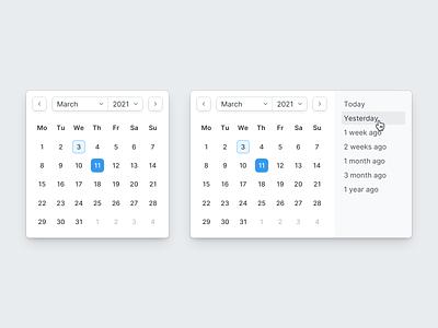 Mini Datepicker calendar schedule component task date picker datepicker