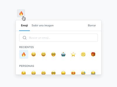 Icon picker widget widget icon emoji sketch specs spacing ui simple design clean