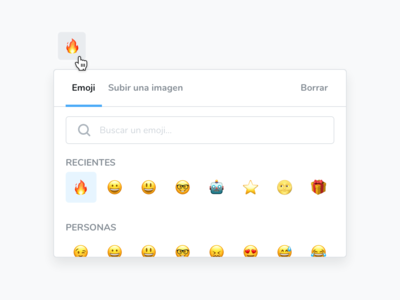 Icon picker widget widget icon emoji sketch specs spacing ui simple design clean