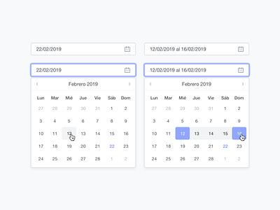Date picker calendar select dropdown date range date picker date ux simple ui clean