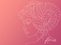 Aries line drawing fire zodiac sign aries illustration design dribble rebound dribbleweeklywarmup