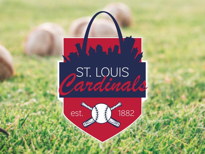 Summer Baseball Badge st. louis cardinals summer baseball badge design badge logo designer illustration design dribble rebound dribbleweeklywarmup