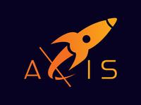 Daily Logo Challenge - Axis Logo vector branding logo rocketship graphic design dailylogodesign dailylogochallenge design dribble