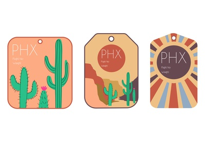 Phoenix Luggage Tags