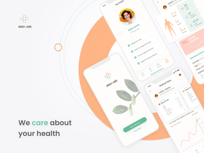 Healthcare Service Mobile App blood test heartbeat medical test appointment booking medical design medicine doctor appointment health app medical app medical care web healthcare health doctor app doctor clinic ui minimal design