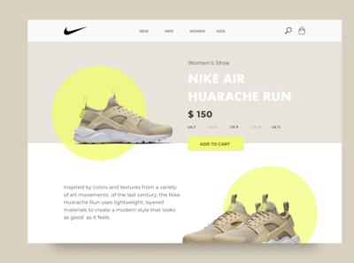 Nike Sneaker Web Page