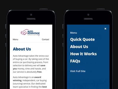 Menu Modal mobile menu navigation modal overlay