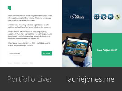 lauriejones.me lauriejones.me portfolio web grid laurie jones