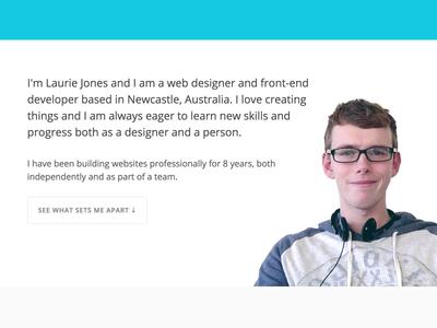 About Page Rework portfolio about page web designer laurie jones
