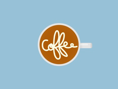 Coffee Froth coffee lettering coffee coffee logo coffee art flat white lettering