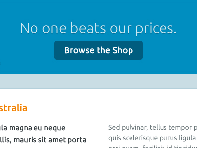 Browse the Shop callout feature shop flat ubuntu web call to action