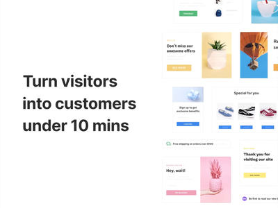 Adoric - Boost sales & leads under 10 min with our popup builder ux ui popups popup design lightbox inspirations editor design animation dashboard analytics adoric