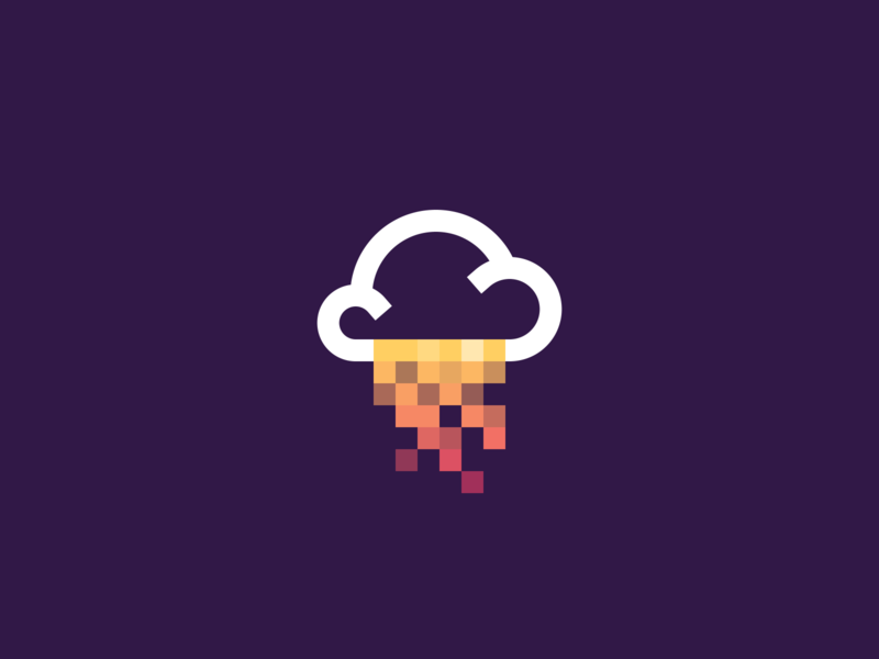 Daily Logo Challenge - Day 14 daily logo challenge logo design design vector illustration clouds data rain data day14 dailylogochallenge branding logodesign logo cloud logo cloud computing
